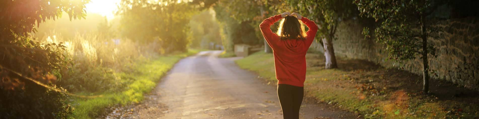 Woman on a walk